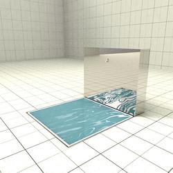 Doccia per esterni Easy Shower - Lavapiedi QUICK WASH-R-P + ACCESSORIO TANK WATE
