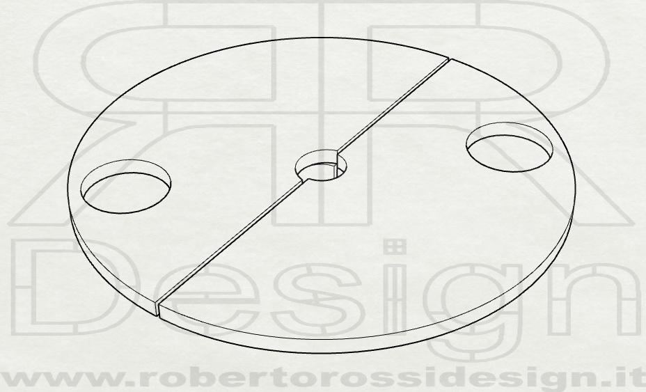 Acc. SUPP-PVC-F-B Ø400mm SP.13mm +n