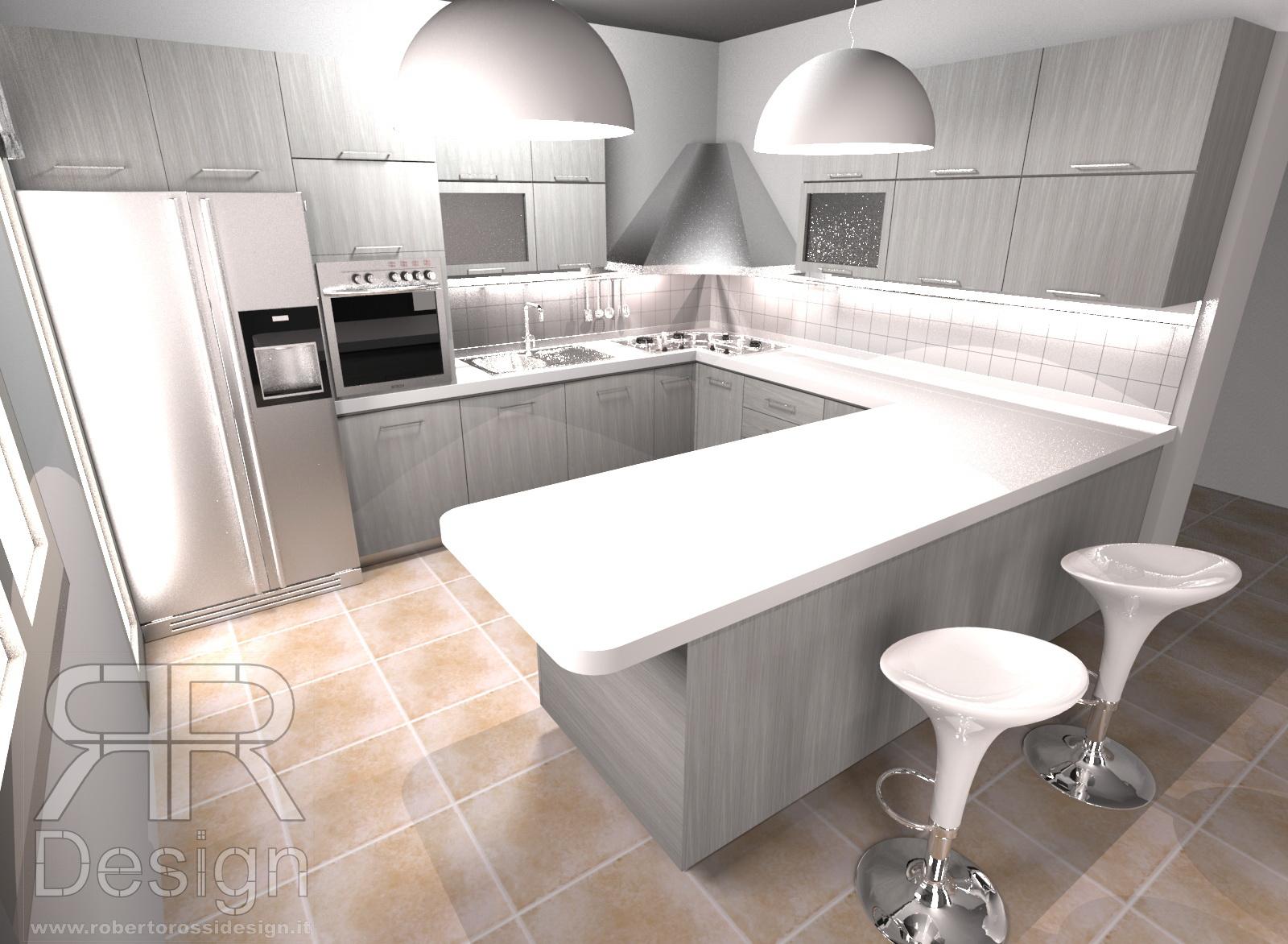 Cucina stile moderno - tinta grigio