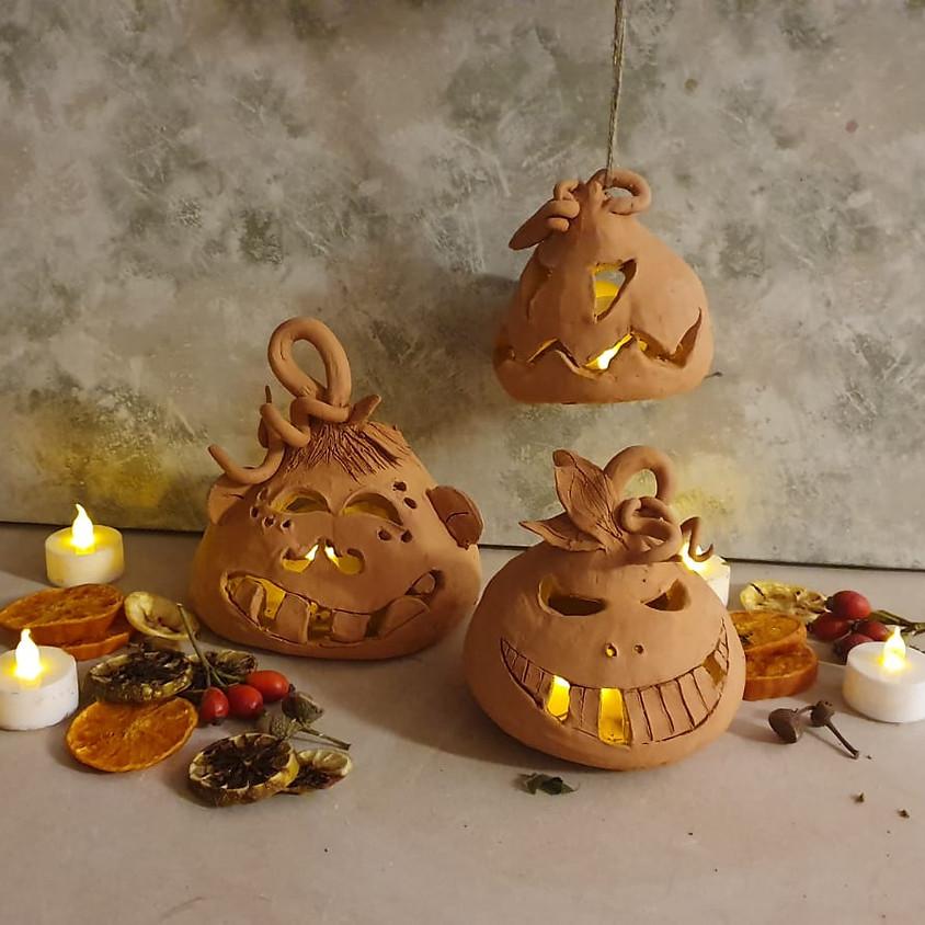 SOLD OUT Large Ceramic Pumpkin Lanterns