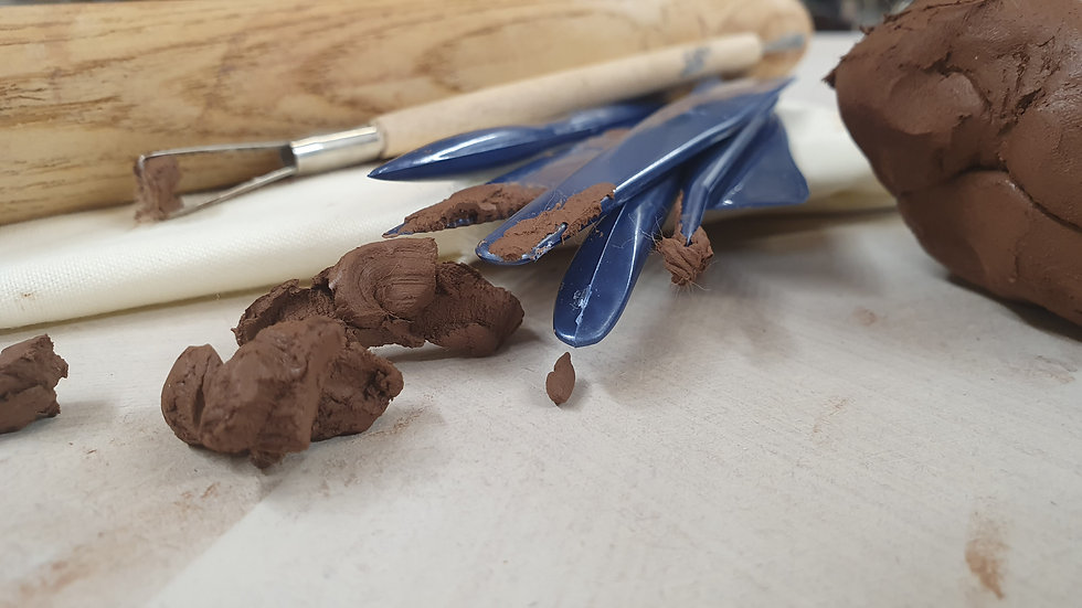 3kg Air Dry Clay in a Box - Collection from Studio