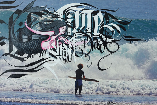caos on canvas, letters, rob machado, edmx, acrilic on canvas, painting, arte, art, henrique montanari, mermaid, surf, life, fine art, artes plásticas