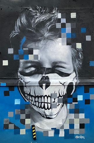 edmx, henrique montanari, graffiti park, zona norte, spray art, 3 mundo graffiti park, terceiro mundo, graffiti, street art, arte urbana, arte de rua, urban art, realismo, pintura realista, muralismo, mural realista, artista, muralista, pixel art, realidade aumentada, covid 19 artwork, covid 19, covid art, pandemia, quarentena, máscara facial, epi, graffiti realista, portrait, retrato