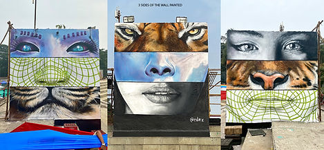 mood indigo, india, mumbai, edmx, interactive mural, interactive graffti, ar mural, agumented reality, spray art, street art, realism, arte interativa, mual interativo, we are all one, henrique montanari, henrique edmx montanari
