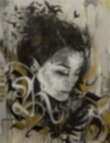 acrilic, paint, art, arte, pintra em acrilico, tinta, spray, pin up, black and white, edmx, henrique, american art awards, awards, art award, arte e reflexão, henrique montanari