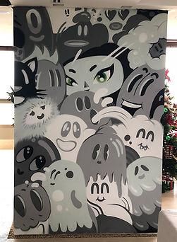 graffit, edmx, spray art, interior design, street art, characters, pictoplasma, arte, art, decoracao, decoração de interiores, henrique montanari