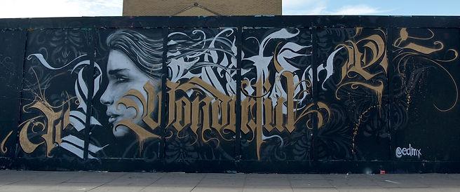 global street art, LONDON STREET ART, graffiti, spray art, street art, edmx, realism, urban arte, arte de rua, containers, LONDRES, LONDON, CALIGRAPHY, CALIGRAFIA, pin up