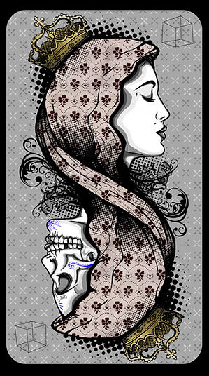 illustration, vector, vetor, vetorial, phostoshop, edmx, art, arte, fine art,textura, skull, card, carta de baralho