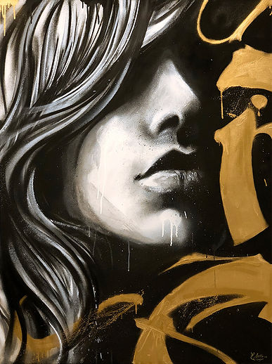 edmx, pintura em acrilicio, acrilic painting, pintig, fine art, pintura, ates plásticas, ares, fine art, spay art, spray, black and gold, sq #02, canvas, acrilic on canvas, pin up, letterin, caligrafia, caligraphy, letters, hand made, girl portrait, portrait, retrato, realismo, realism, relismo expressionista
