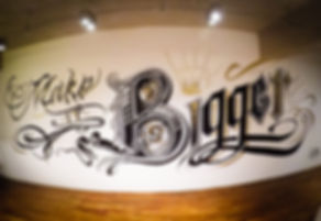 big studios, 3d, caligrafia, wall art, interior design, lettering, spray art, caligafitti, caligraphy
