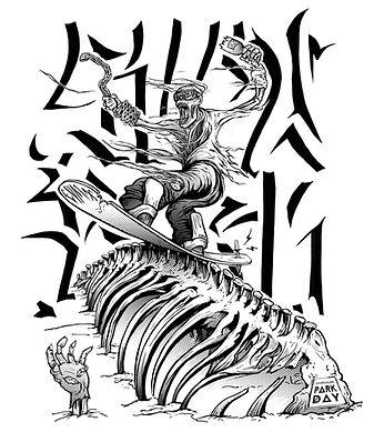 sp, zombie skull, t-shirt design, illustration, ilustração, skate, skateboard, skull, street, street style, urban, art, arte, snow park day, snowboard, snowboard brasil, edmx
