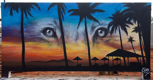 MURLA, ANGOLA, BEACH, ANGOLA GRAFFITI, SPRAY ART, ANGOLA RESORT, LUANDA , STREET ART, STREET ART AFRICA, WALL ART