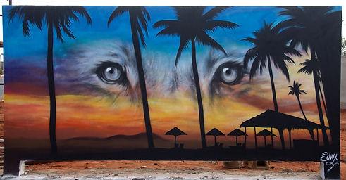 MURLA, ANGOLA, BEACH, ANGOLA GRAFFITI, SPRAY ART, ANGOLA RESORT, LUANDA , STREET ART, STREET ART AFRICA, WALL ART