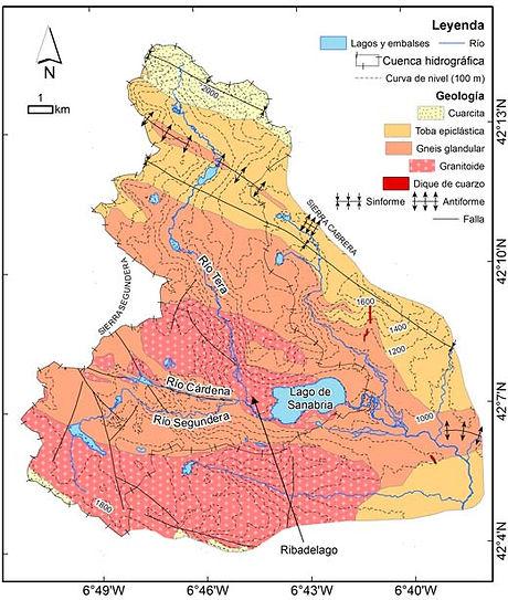 cartografia geologica GIS Sanabria
