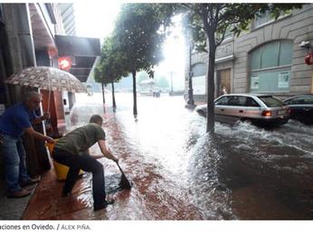 Inundaciones en Asturias por una tormenta de verano