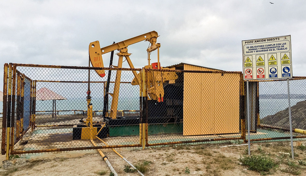 Pozo petrolífero en campo Ancón