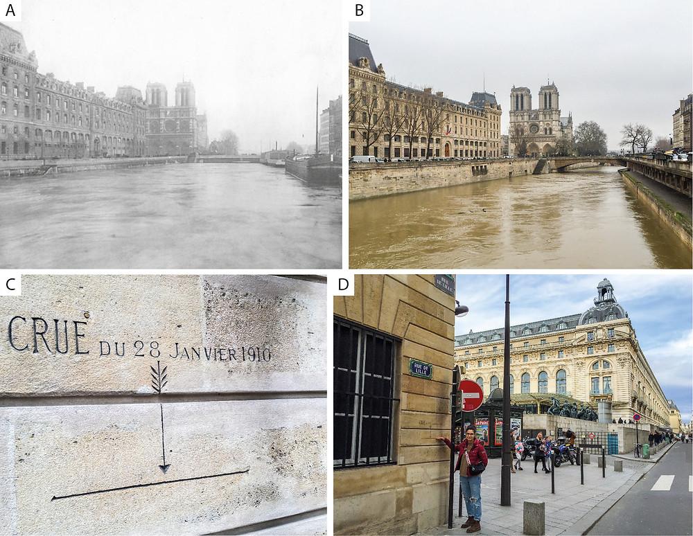 Inundaciones históricas en Notre-Dame de Paris y museo de Orsay en 1910