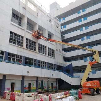 Repaint and Repair works of debonding in external wall