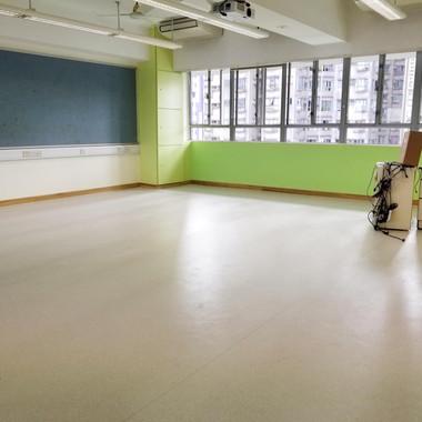 Replace blackboard Repaint basketball court