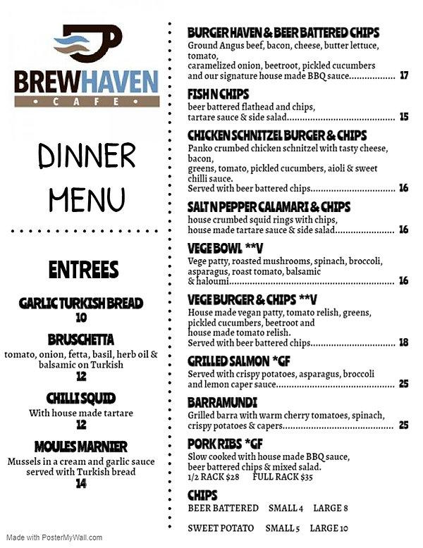 BREW HAVEN DINNER MENU - 18-6-20.jpg