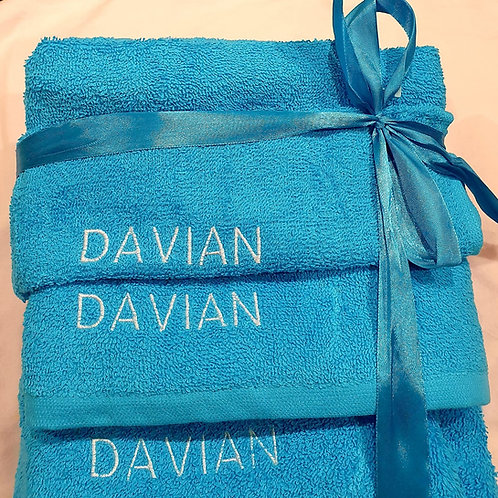 Personalised Towels Set
