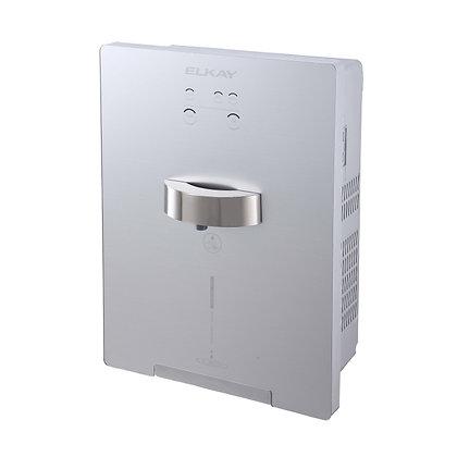 Dispensador de agua ELKAY empotrado a muro, agua fría y caliente.