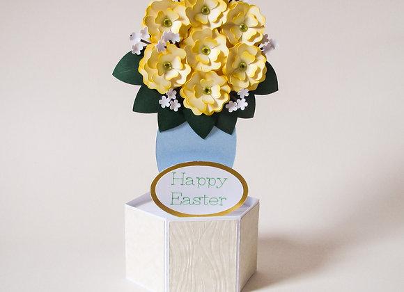 Easter bouquet handmade card, pop up card, Easter flowers