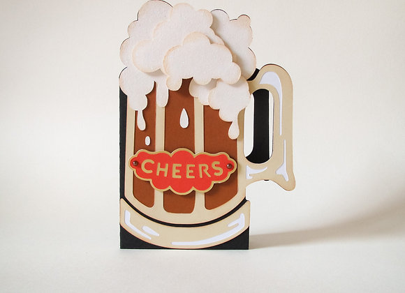 tankard card, cheers, card for him, tankard of beer