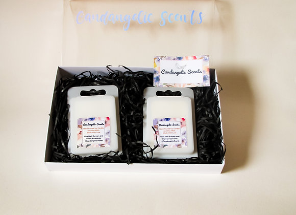 Soy Wax Melt Clamshells Lavender Spa & Damson Plum, Rose & Patchouli Fragrances