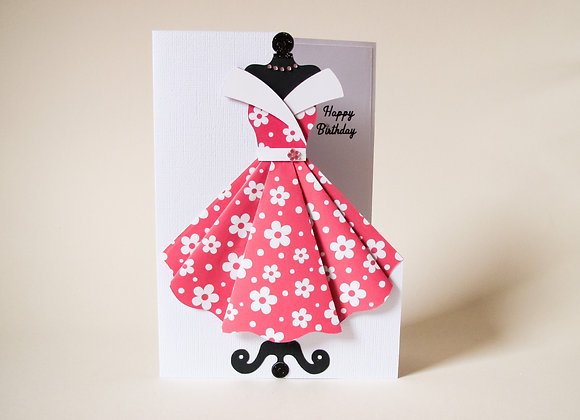 Vintage 50's style card, Happy Birthday Card