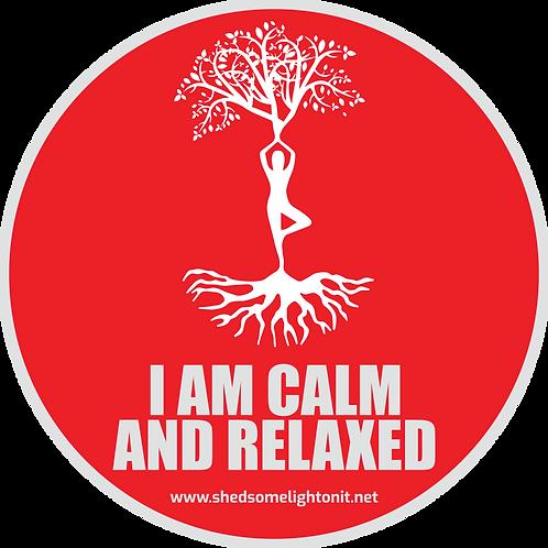 Root Chakra affirmation sticker