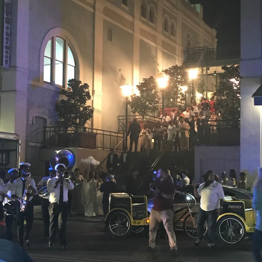 Second line wedding parade