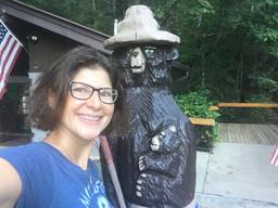 Me and Smokey at Anna Ruby Falls