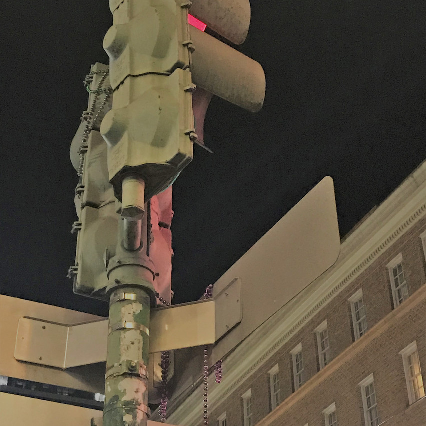 Light post had a crazy night in NOLA