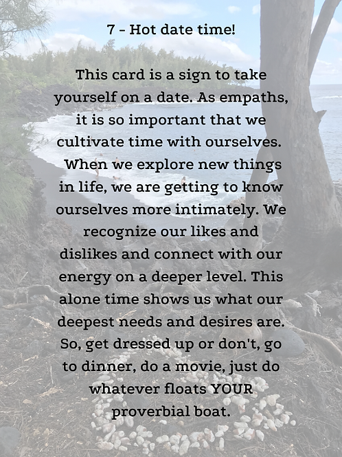 Empath Self-Care Oracle Deck - See purchase info below