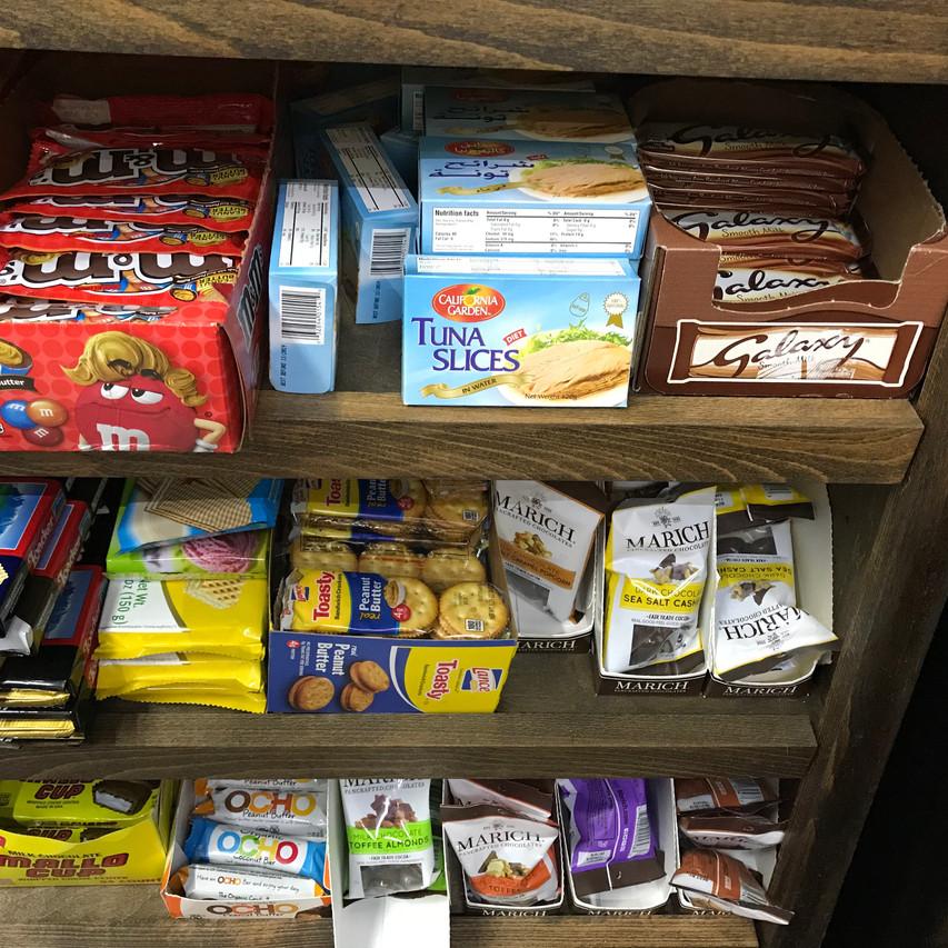 Candy next to tuna fish?