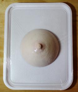 Peito resfriado corte bandeja
