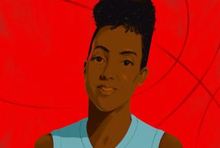 Editorial portrait illustration for SF Gate
