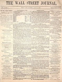 First issue of Wall Street journal published
