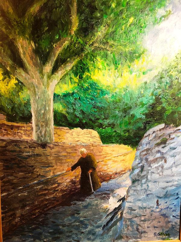 Monastery Priest, Oil 25V x  19W.JPG