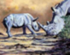playtime-(white-rhino-adult&calf)-oil-16