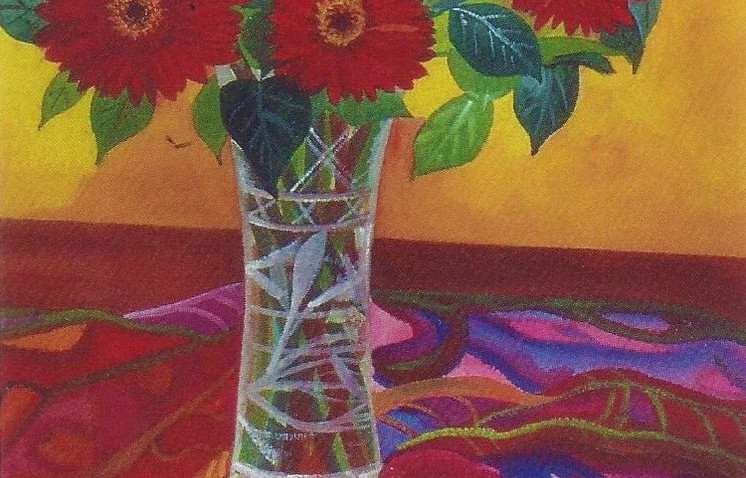 """""""Floral Fantasy"""" by: Adrienne Kyros Watercolor on Paper 27"""" x 22"""""""