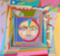 AI WEN WU KRATZ, TRANSFORMATION, A CIRCLE OF JOY, Acrylic on Canvas, 31.5 X 33.25 IN.jpg