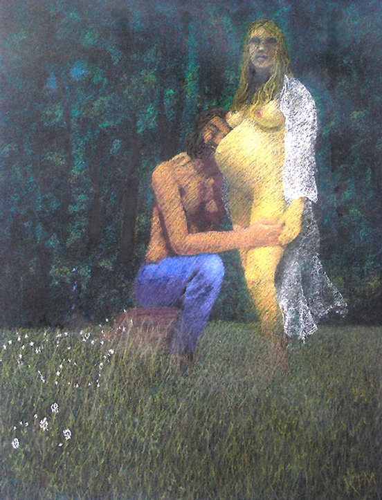 Adam and Eve Revisited Pastel 26x19.jpg