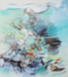 Fish and Rocks Acrylic on Canvas 26x30.j