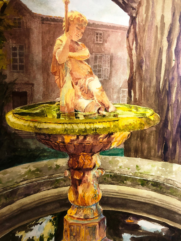 Fountain of Youth, Watercolor 26V x  18W.JPG