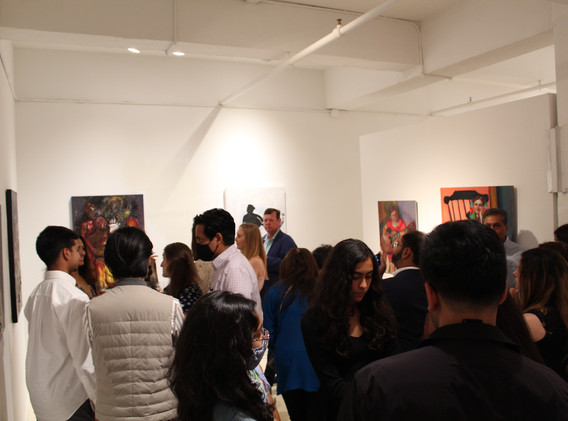Guests toast Sweta Shah's exhibition