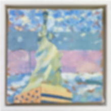statue of liberty III Oil on Canvas 9x9.