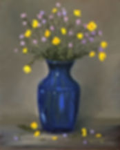 Buttercups and Forget me Nots- Oils-10x8