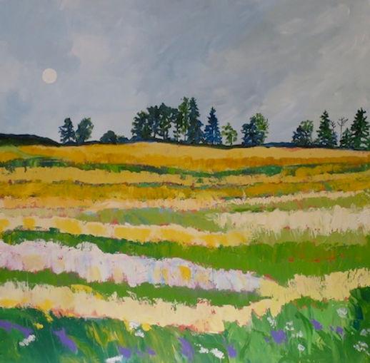 Moody Beauty, Acrylic on Canvas, 30 x 30